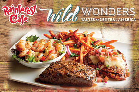 Rainforest Wild WOnders Menu